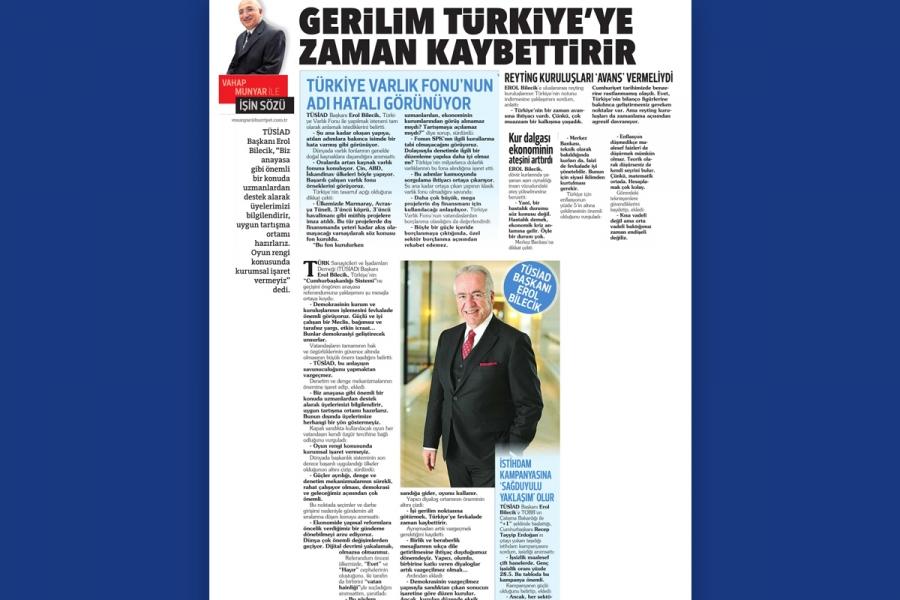Gerilim Türkiye'ye zaman kaybettirir