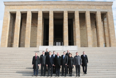 Tüsiad'ın Yeni Yönetimi Anıtkabir'de